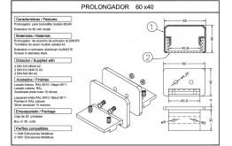 Prolongador barandilla 40x60