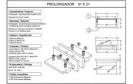Prolongador barandilla 51x21